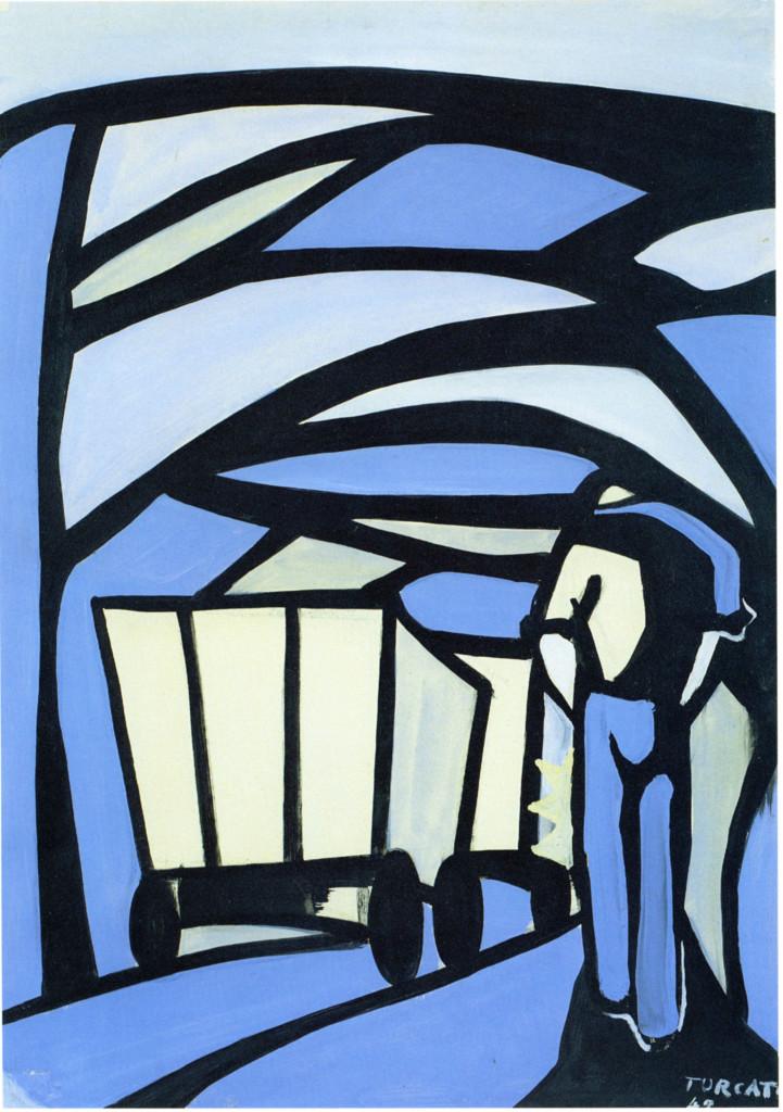 Un'opera di Giulio Turcato, particolare, 1948