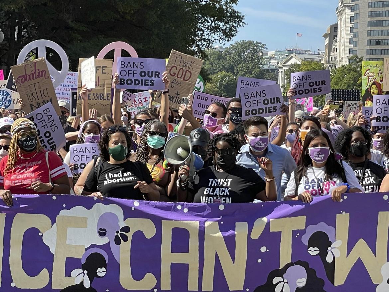 La manifestazione per il diritto all'aborto del 2 ottobre scorso a Washington DC