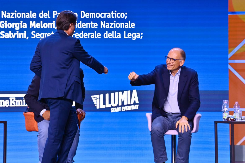 Giuseppe Conte con Enrico Letta