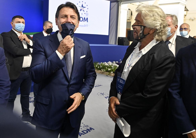 Giuseppe Conte e Beppe Grillo