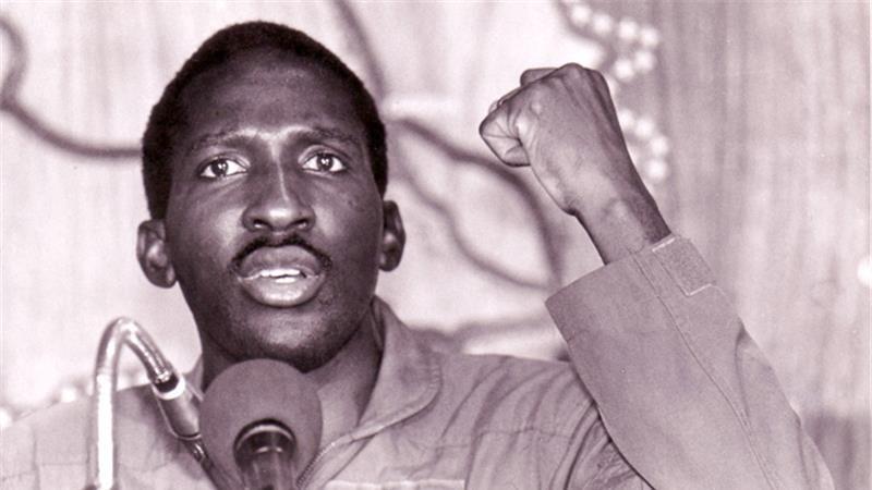 Thomas Sankara durante un discorso
