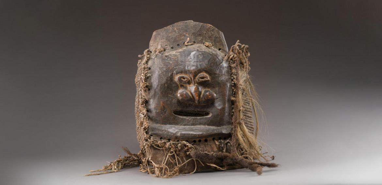Nuova Caledonia, una maschera Kanak da funerale del XIX secolo