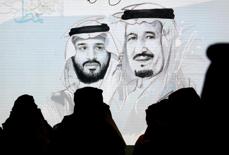 Ritratti del re Salman (a destra) e del principe ereditario (a sinistra)