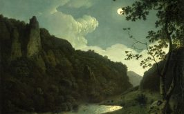 Joseph Wright of Derby Dovedale by Moonlight 1785 ca Houston Museum of Fine Arts