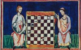 Problema scacchistico numero 35 dal Libro de los juegos commissionato da Re Alfonso X di Castiglia 1283 ca