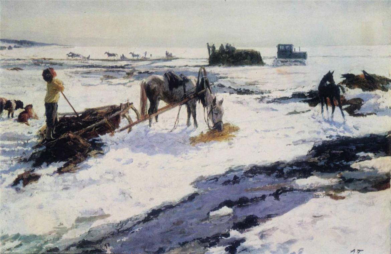 Arkadij Plastov, «Marzo in un villaggio», 1948