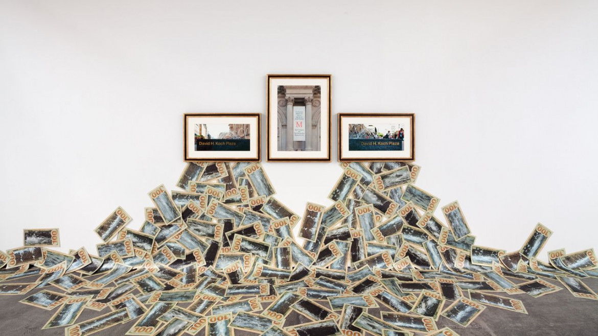 Hans Haacke, «The Business Behind Art Knows the Art of the Koch Brothers», 2014