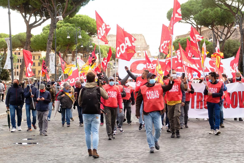 Lo sciopero dei sindacati di base