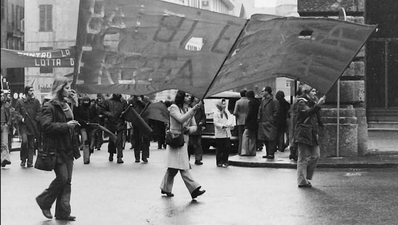 Una foto tratta da Le stagioni della fotografia militante 1960 – 2020