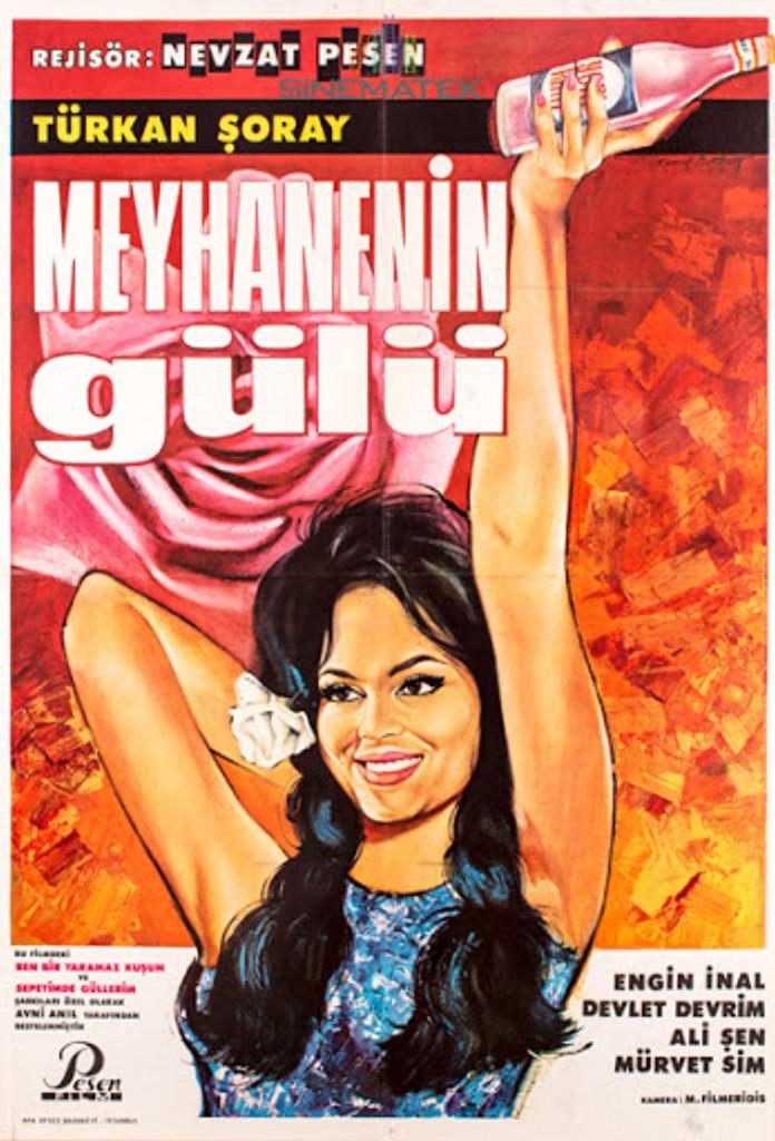 Il manifesto di «Meyhanenin Gülü» (letteralmente La rosa della locanda), melodramma romantico del 1966