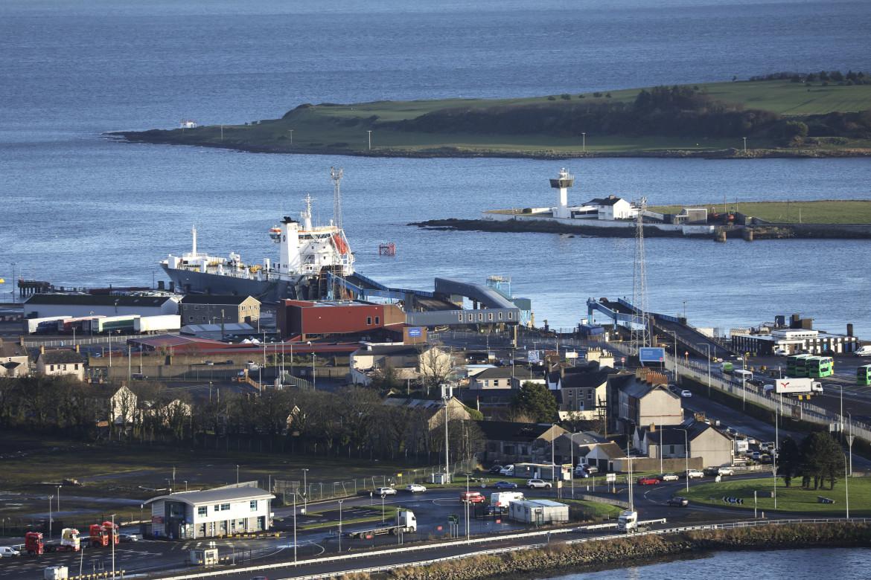 Il porto dei traghetti P&O di Larne, nell'Irlanda del Nord, situato a nord di Belfast