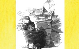 Illustrazione di Duan Petrii per Tric Trac Trio di Margaret Atwood